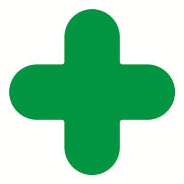 安赛瑞 5S管理地贴-十型,绿色,150×150mm,15798,10个/包