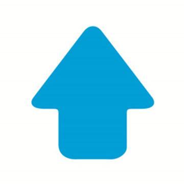 5S管理地贴(箭头)-超强耐磨地贴材料,蓝色,76×70mm,10个/包,15790