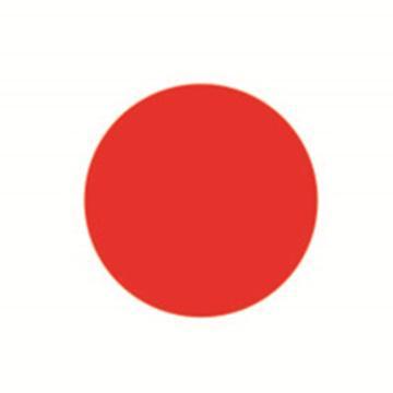5S管理地贴(圆型)-超强耐磨地贴材料,红色,Φ50mm,10个/包,15783