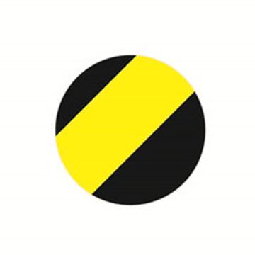 安赛瑞 5S管理地贴-圆型,黄/黑,Ф50mm,15801,10个/包