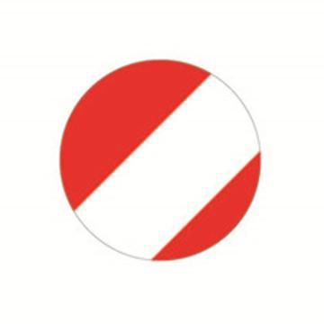 安赛瑞 5S管理地贴-圆型,红/白,Ф50mm,15807,10个/包