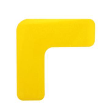 安赛瑞 重载型5S管理地贴-L型,高强度PVC,厚2mm,黄色,50×150×150mm,15825,10个/包