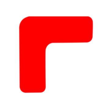 安赛瑞 重载型5S管理地贴-L型,高强度PVC,厚2mm,红色,50×150×150mm,15826,10个/包