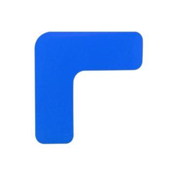 安赛瑞 重载型5S管理地贴-L型,高强度PVC,厚2mm,蓝色,50×150×150mm,15827,10个/包