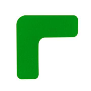 安赛瑞 重载型5S管理地贴-L型,高强度PVC,厚2mm,绿色,50×150×150mm,15828,10个/包