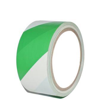 安赛瑞 警示胶带(绿/白)-高性能自粘性PVC材料,50mm×22m