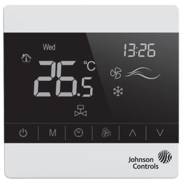 江森 风机盘管触屏温控器,T8200-TF20-9JS0,四管制, On/off, 有占用模式