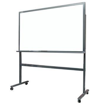得力 H型架磁性玻璃白板,900*1500mm(灰色) 8737_H型单位:块