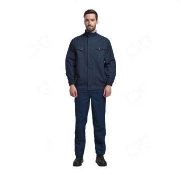 诚格240g/m2阻燃棉裤子,藏青色,M
