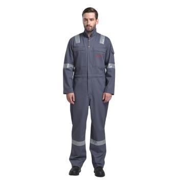 诚格 330g/m2阻燃连体服,灰色,BP-FRCN330-S