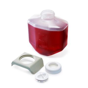 NALGENE2L带密封盖生物瓶,聚丙烯共聚物,已灭菌,单独包装,无垫圈,一次性使用