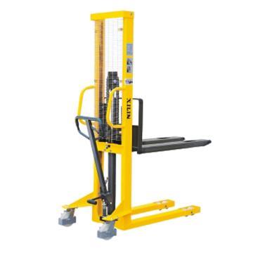 手动液压堆高车(固定式货叉),额定载荷(t):1,起升高度(mm):1600