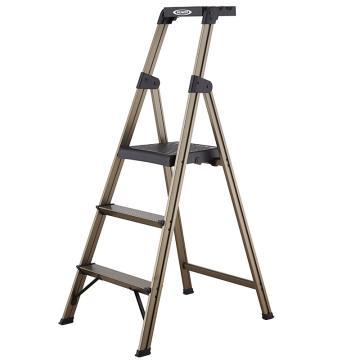 稳耐 铝合金宽踏板家用梯,踏台数:3 额定载荷(KG):100 工作高度(米):0.73,233T-3CN