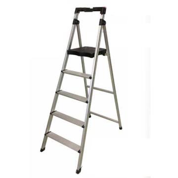 稳耐 铝合金宽踏板家用梯 梯长(米):1.65 梯级数:5 工作高度(米-3):1.12 额定载荷(KG):100,CAL5-3