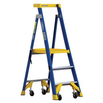 稳耐 单侧平台人字梯,踏板数:3,额定载荷(KG):170,工作高度(米):0.9,P170-3CN FG