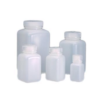 NALGENE广口方形瓶,高密度聚乙烯;聚丙烯螺旋盖,60ml容量