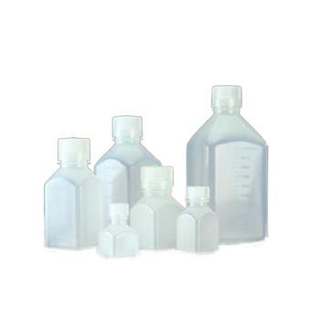 NALGENE方形瓶,聚丙烯;聚丙烯螺旋盖,125ml容量