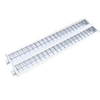 津达 T8 LED格栅灯盘 JD214含2*14W双端进电T8白光T型龙骨 两侧加卡簧 298x1198mm,2个/箱 单位箱