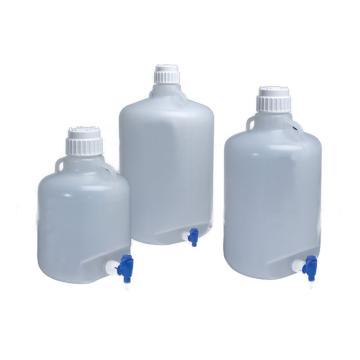 可高温高压灭菌的细口大瓶,带放水口,聚丙烯,10L容量