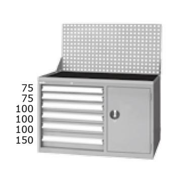 标准型工具车,高H*宽W*深D:1198*1000*515,抽屉荷重(kg):50,ELS-276A