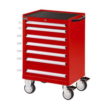 天钢 红色标准型工具车,H933ⅹW700ⅹD510,7个抽屉,每屉承重50KG