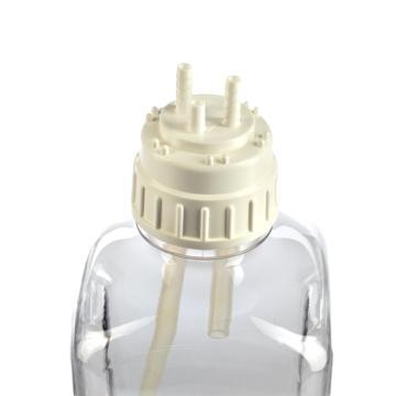 填充/通气盖,白色聚丙烯,TPE垫圈,TPE端口盖,NALGENE 50 白金硅胶胶管,瓶盖尺寸53B,胶管内径1/4英寸