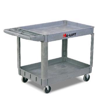 虎力 雙層多用途塑料工具車,額定載重(kg):250 950*650mm,UB252