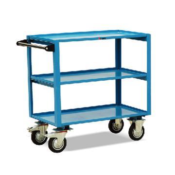 虎力 鋼制三層工具推車,額定載重(kg):350 臺板尺寸(mm):900*500,CX35B
