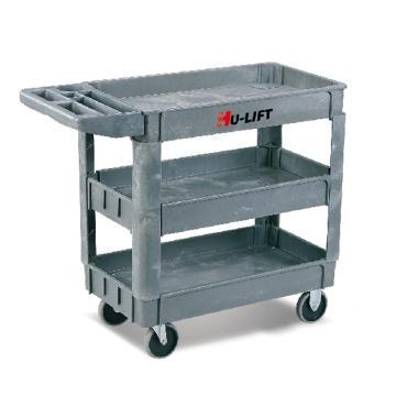 虎力 三層多用途塑料工具車,額定載重(kg):250 790*435mm,UD-253