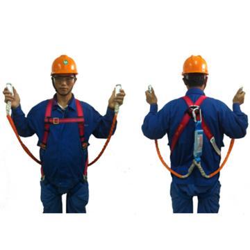 奎楼 全身式单挂点安全带套装,双头小钩
