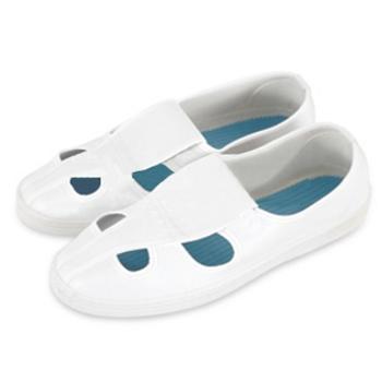 防静电四孔鞋,HS-304-44,白色