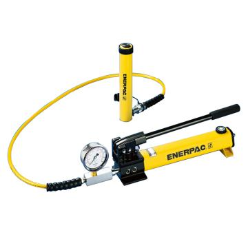 ENERPAC 恩派克千斤顶,45吨薄型液压油缸RCS-502*(含油泵、压力表座、压力表、液压软管)