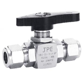 "JPE C-3BV-S6-02J-3P 球阀,JPE不锈钢精小型,卡套接头,直通式,1/4"",3000PSI"