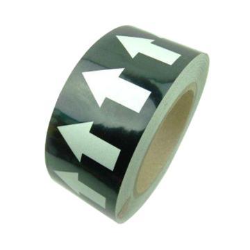 安赛瑞 管道流向箭头带-黑,高性能自粘性材料,50mm宽×27m长,33549