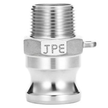 """JPE 双扣式外牙插头,不锈钢,1/2"""",AS6-F050-R"""