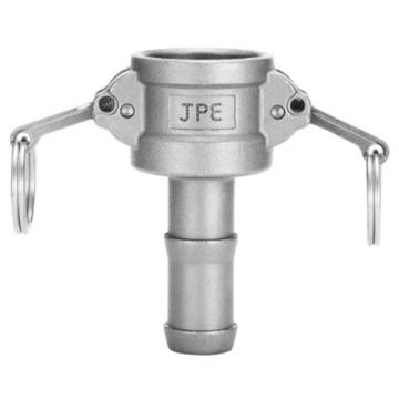 "JPE 双扣式胶管插座,不锈钢,2"",AS6-C200"