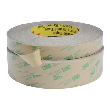 3M 透明超薄耐高溫無基材雙面膠帶,純膠膜雙面膠,型號:468-75mm*55m