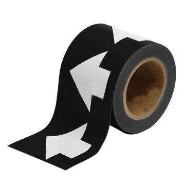 安赛瑞 管道流向箭头带-黑,高性能自粘性材料,100mm宽×27m长,33550