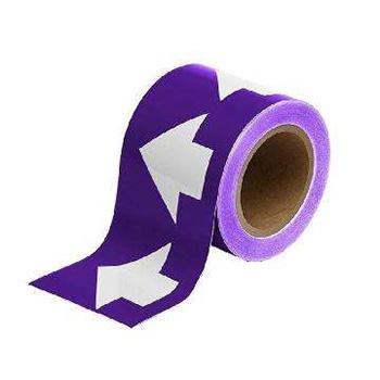安赛瑞 管道流向箭头带-紫,高性能自粘性材料,100mm宽×27m长,33532