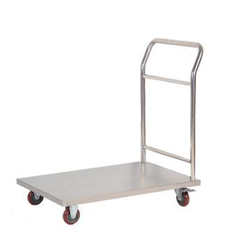 耐腐不锈钢单层手推车, 单扶手 600*400*850mm