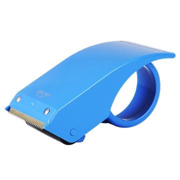 得力(deli)胶带切割器,802(适用胶带宽度60mm) 不锈钢刀口 颜色随机 单位:只