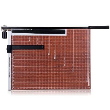 得力(deli)木質切紙刀8001 裁紙刀切紙機鍘刀裁紙器裁紙機 可切B3紙 單位:把