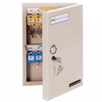 得力(deli) 金属钥匙柜钥匙箱壁挂式汽车钥匙管理箱子锁匙收纳盒 高品质款32位两排 9322 单只