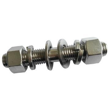 镁沃 GB901B细杆等长双头螺栓带加厚螺母平垫弹垫,M12-1.75X60,不锈钢304/A2,20支/包