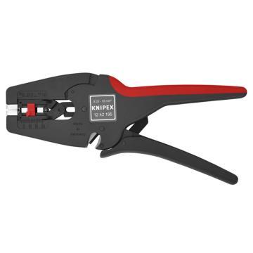 凯尼派克 Knipex 自调万能绝缘导线剥线钳,0.03-10.0mm²,12 42 195