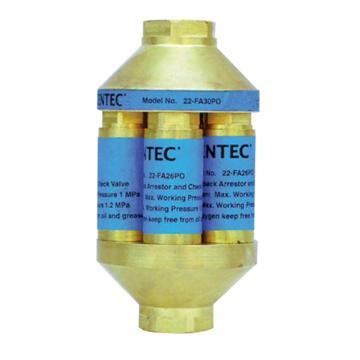 捷锐气体回火防止器,FA30PO,管道用,氧气,3/4NPT(F)