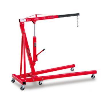 泰得力 1000Kg(最大) 美式可折叠式单臂吊,吊臂长度4工位可调1160-1445mm(吊臂水平状态至吊钩的长度),吊钩最大高度1785(H2)/2300(H4)mm,型号 SB1000