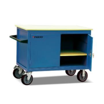 泰得力 可移动工具车,500Kg     双门,带搁板,门柜配锁   橡胶轮