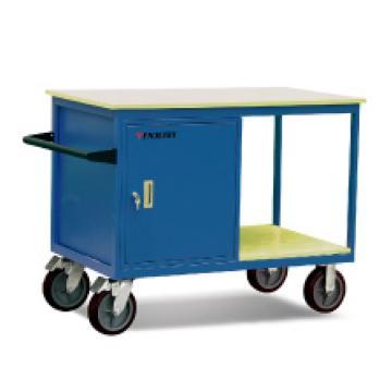 可移动工具车,500Kg     单门,柜门配锁,内含搁板   橡胶轮