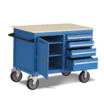泰得力 可移动工具车,500Kg    带抽屉和门柜  PU轮
